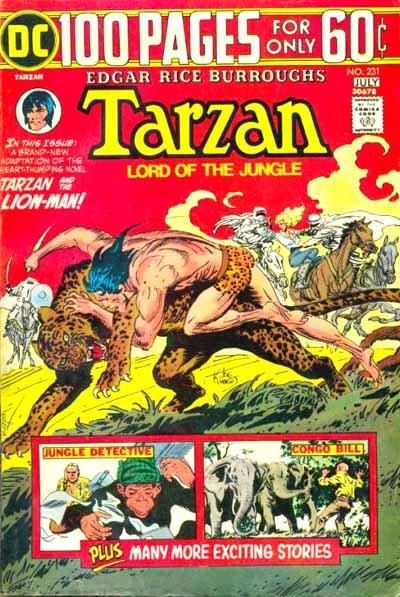 Tarzan v1 #231 dc comic book cover art by Joe Kubert