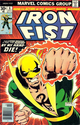 Iron Fist v1 #8 marvel bronze age comic book cover art by John Byrne