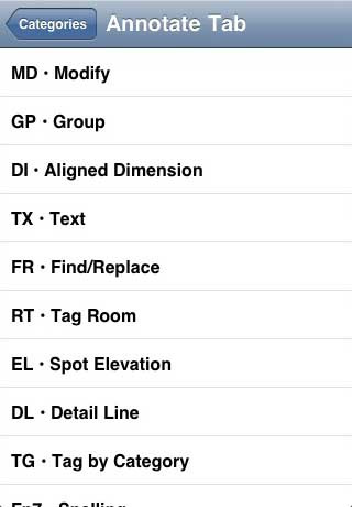 Revit ST: Revit Keys - App for iPhone, iPod Touch, and iPad