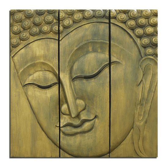 the buddha 39 s face asian buddha wall art decor our first blog. Black Bedroom Furniture Sets. Home Design Ideas
