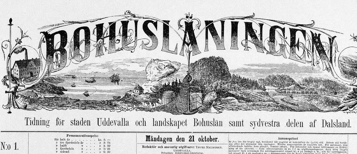 Uddevallabloggen Se Bohuslaningen I Tidningsarkivet