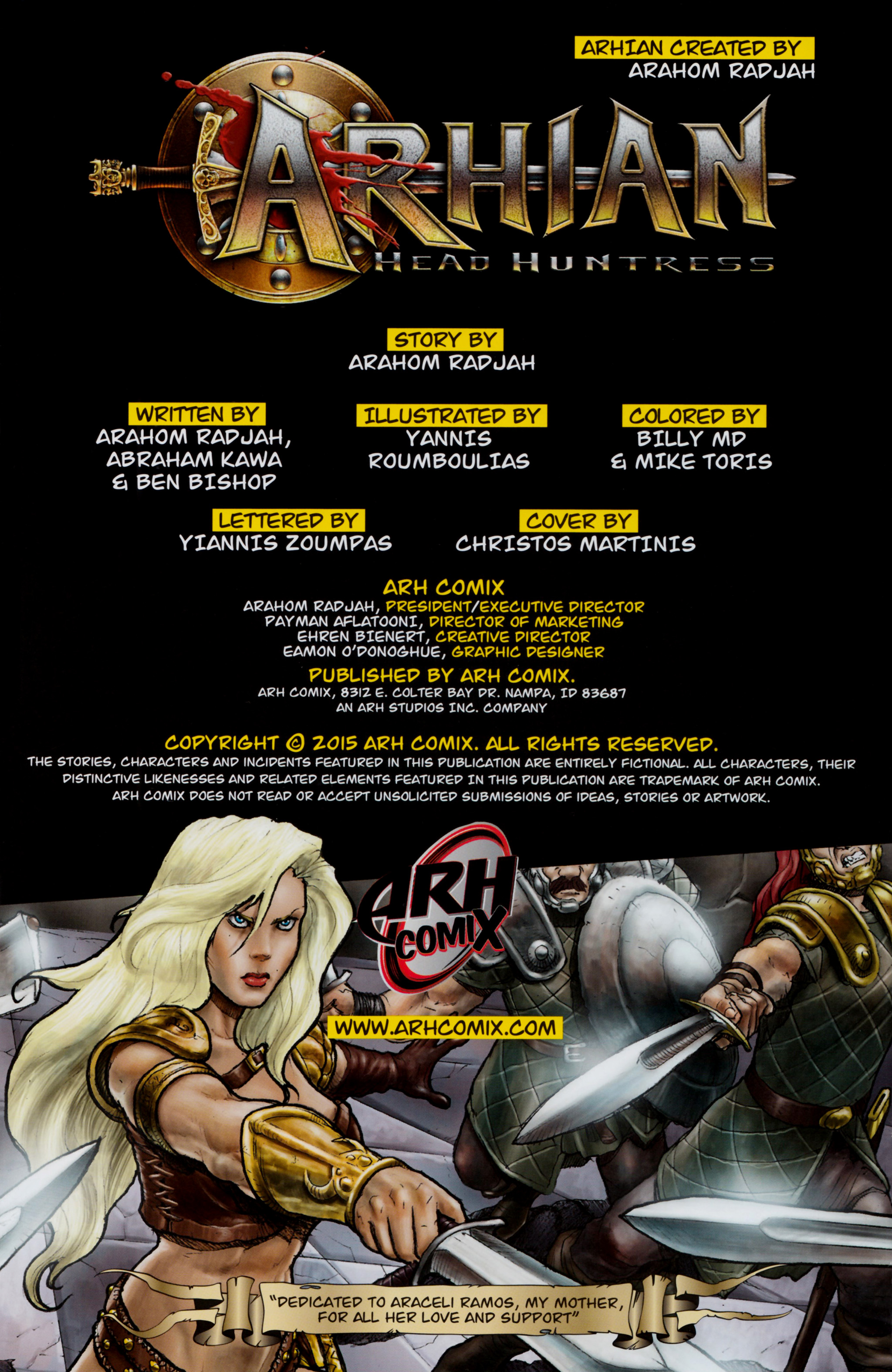 Read online Arhian: Head Huntress comic -  Issue #1 - 2
