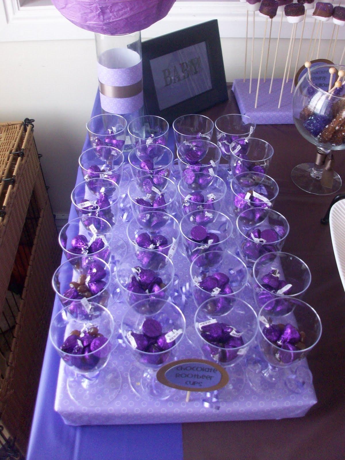 Sweete Parties Purple Brown Polka Dot Treat Table