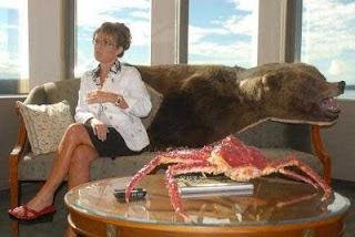 Sarah Palin and dead bear