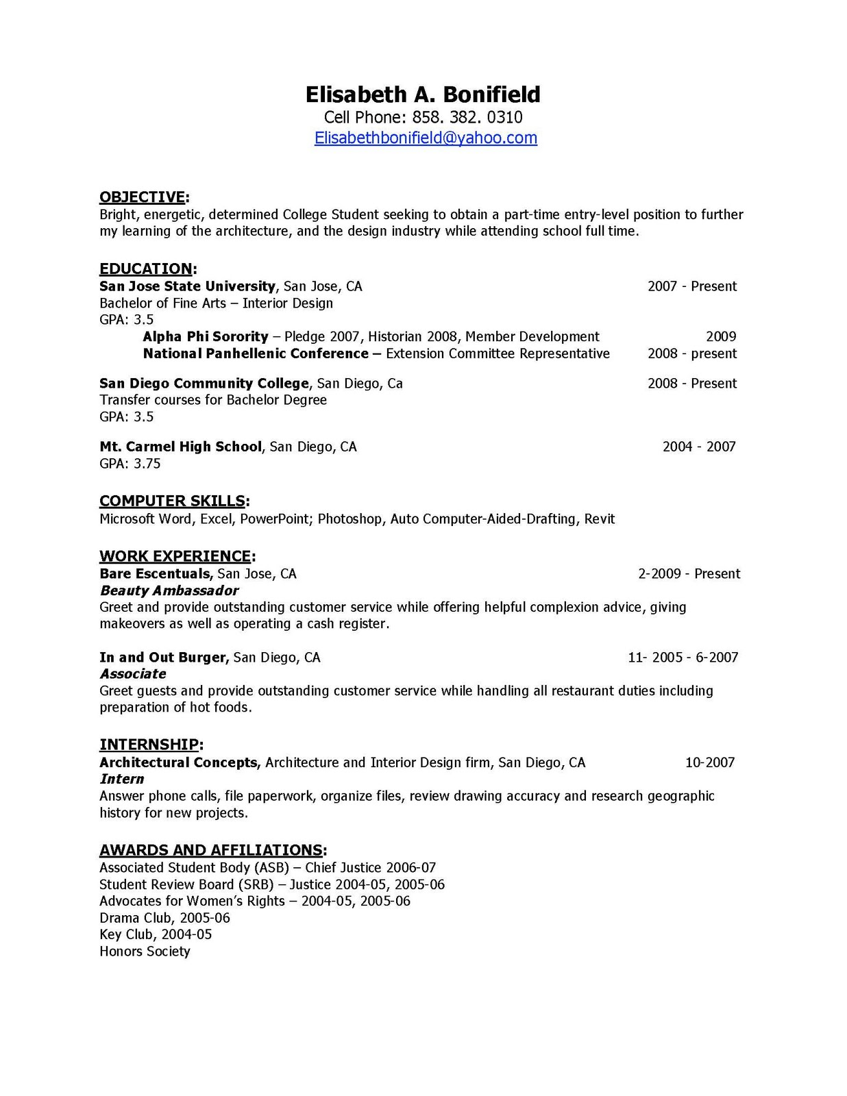 Computer architecture resume - Systems Architect Resume Samples