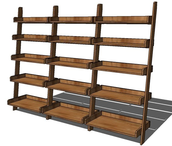 And while this plan only calls for one leaning wall shelf, you will
