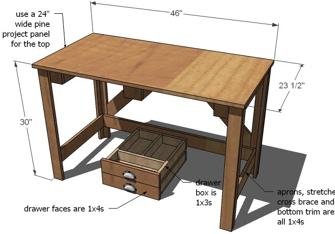 Ana White | Brookstone Desk - DIY Projects