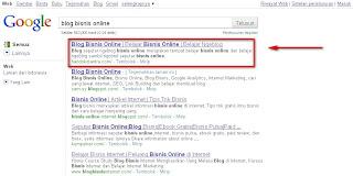 Blog Bisnis Online di Google