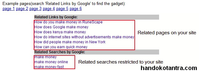 Google Related Links Pageviews