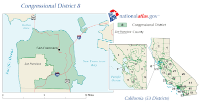 Bay Area Congressional Districts Map : 'nearly 15 percent of all zip codes cross congressional district boundaries.'