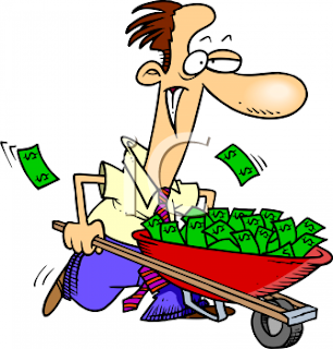 0511 0906 1700 5715 Man with a Wheelbarrow Full of Money Cartoon clipart image.jpg Solusi Atasi Defisit Anggaran Tapsel Rp91 M