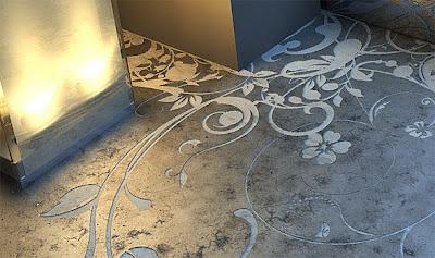 Cool Concrete Flooring Art