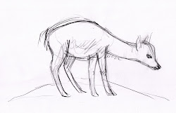 deer drawing down draw easy lying drawings kind person march paintingvalley