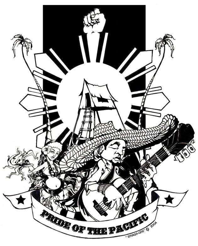 Pride of the Pacific Shirt design ( Pen & Ink )