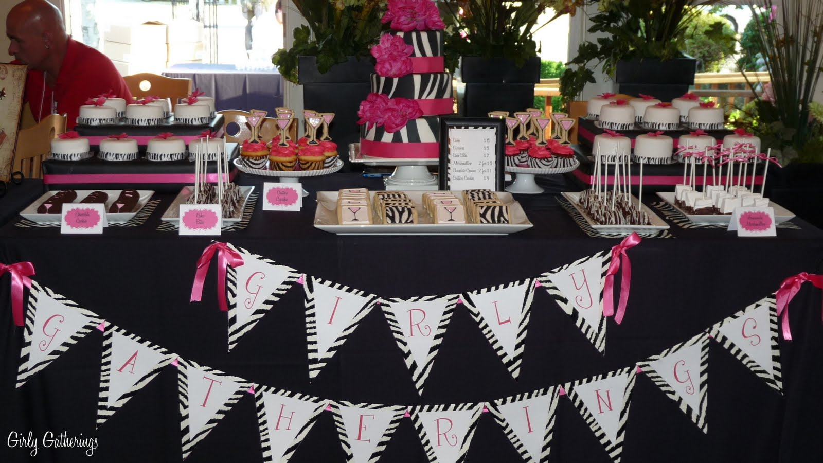 Girly Gatherings Girls Night Out Dessert Table