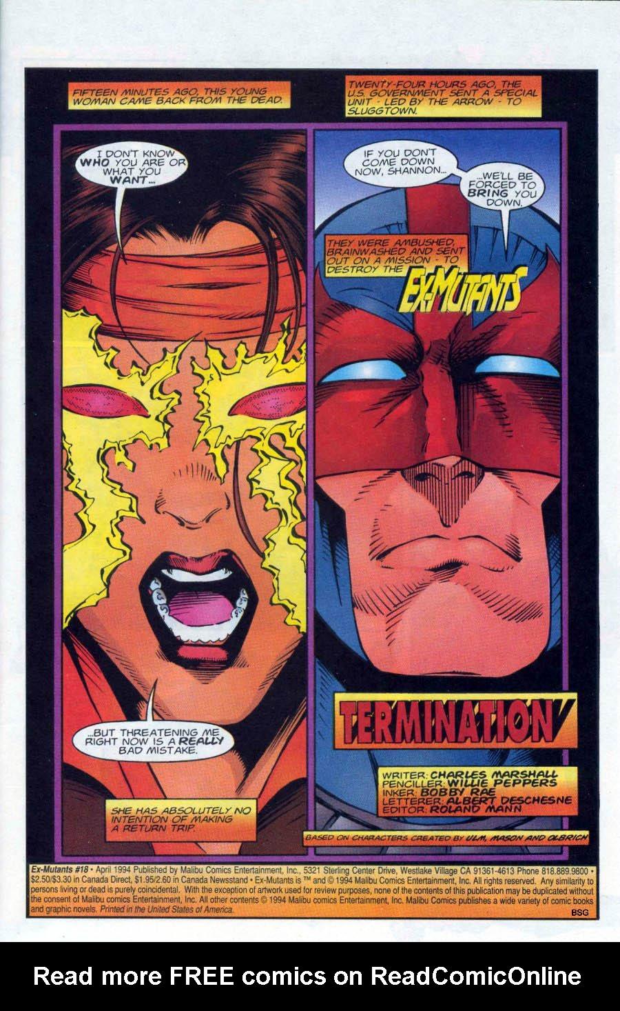 Read online Ex-Mutants comic -  Issue #18 - 2