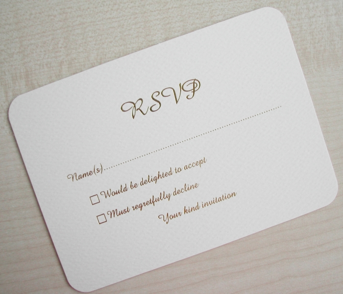 What does RSVP stands for in a marriage card?