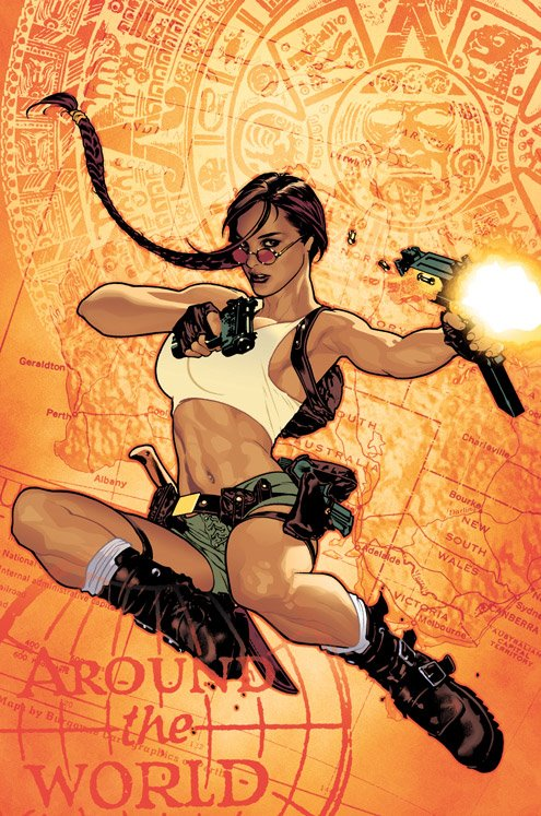 The Best Wonder Woman Pinup Art Background