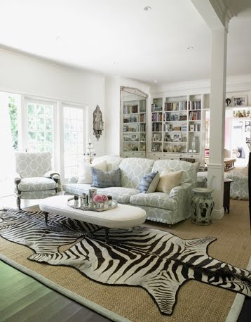 The huntress lives zebra or cow - Faux animal skin rugs ...