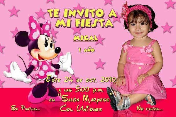 Fotomontaje Minnie Mouse Invitación Cumpleaños Gratis Imagui