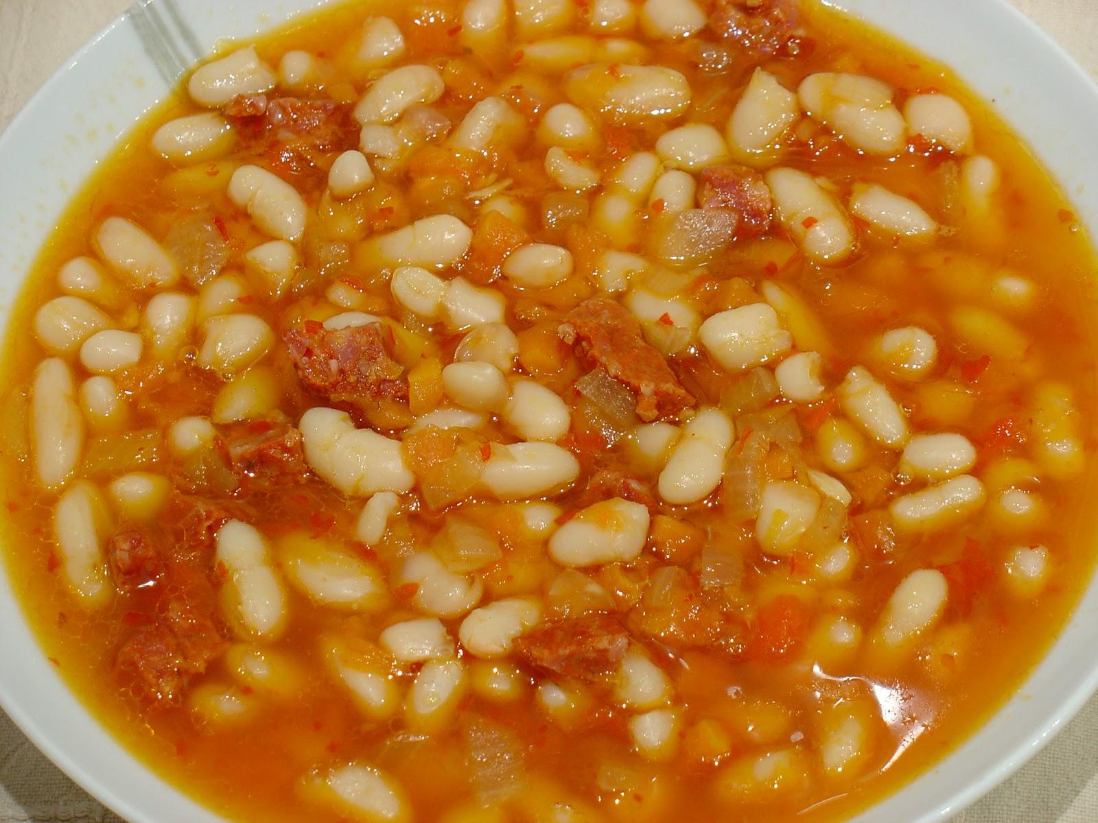 Ma petite mycook jud as blancas con chorizo ib rico - Judias con chorizo y patatas ...