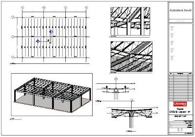 REVIT Rocks !: REVIT Structure - Sloped Flat Roof System