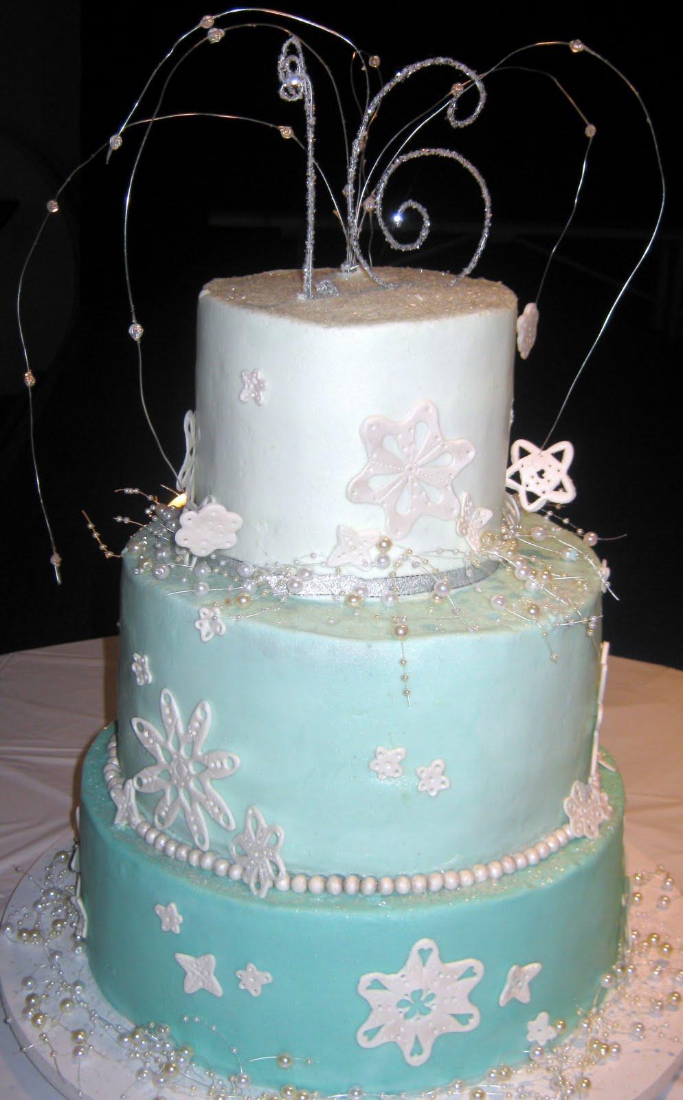 Sweet Ts Cake Design Sweet 16 Winter Wonderlandice Palace Theme