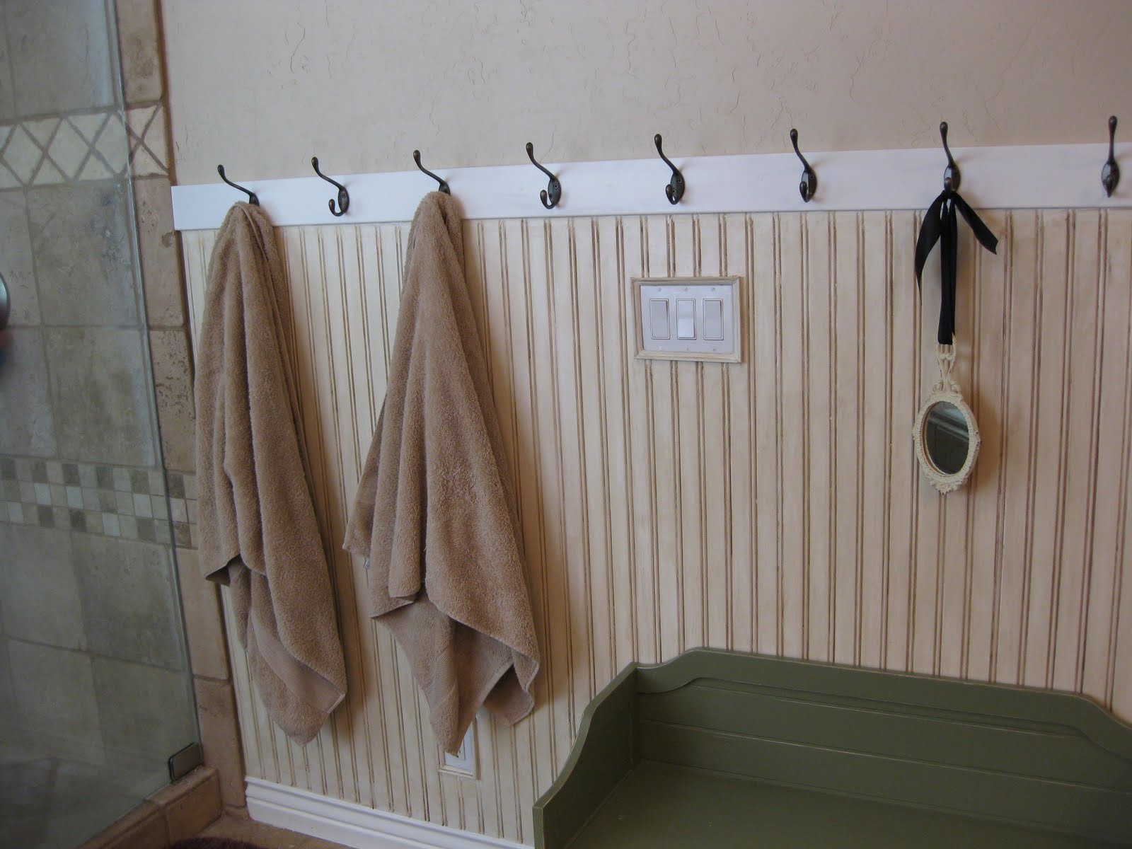 diy beadboard bathroom hooks for bathroom wall wickedmail