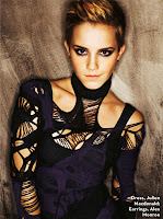 Emma Watson short hair photo shoot