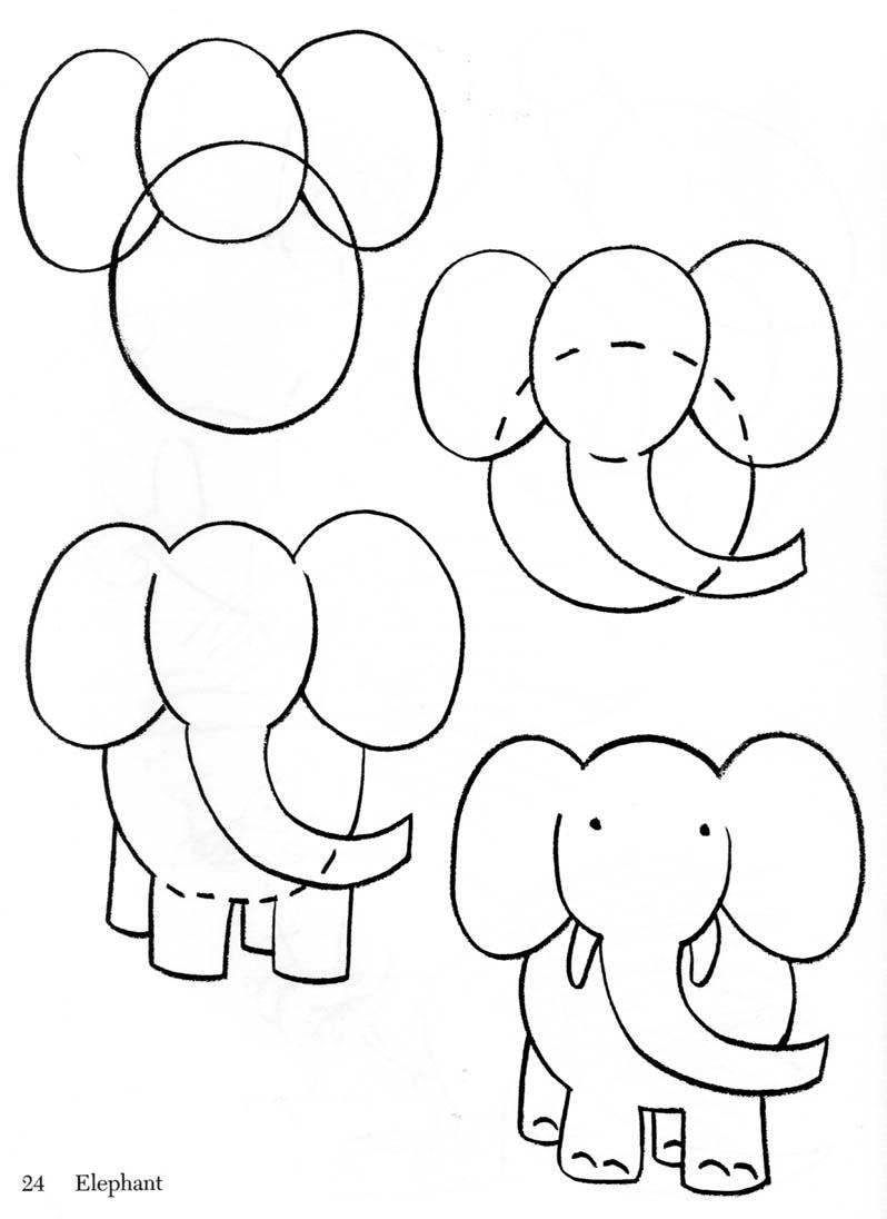 how to draw baby elephant. Black Bedroom Furniture Sets. Home Design Ideas
