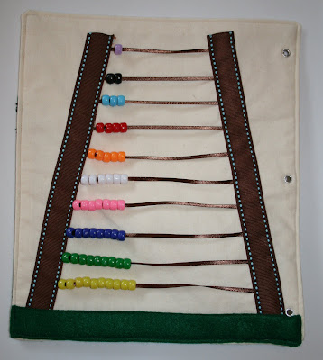 quiet book bead counting idea
