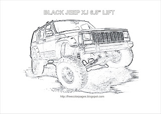 Jeep Cherokee Coloring Page Lifted Jeep Wrangler Coloring Page