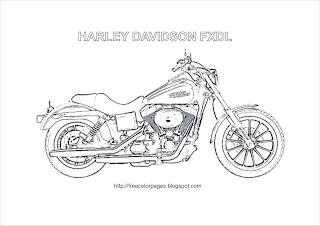 Coloring Pages Harley Davidson Fxdl Harley-Davidson Dyna