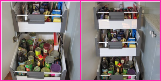 Pantry drawers for #kitchen via @natashainozblog