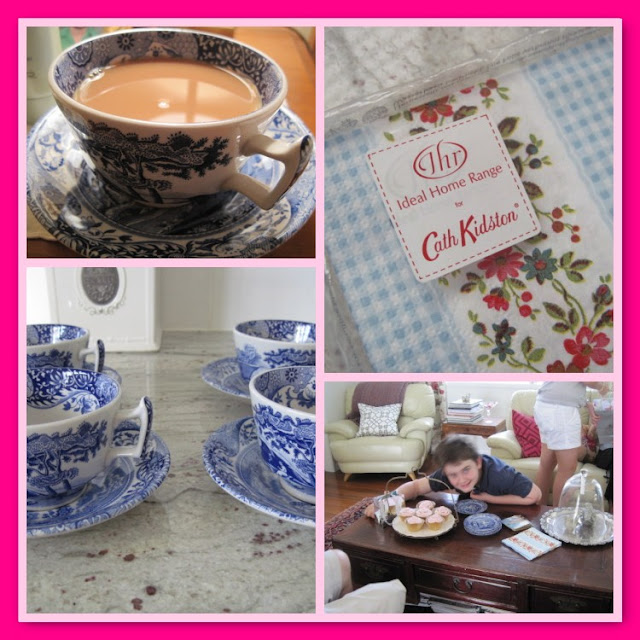 Giving Thanks For..., Jo Malone candle, Mosaic Monday, Mother's Day, Roslyn Trio, Yorkshire Tea, Spode cups