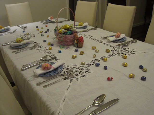 Easter Decorating, Madeleine, Easter