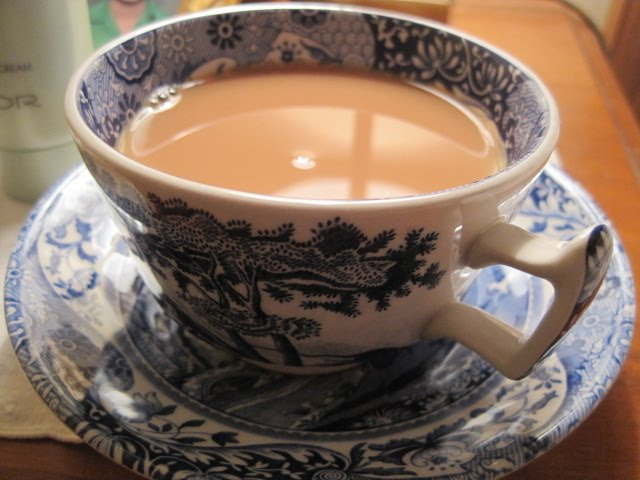 Tea Time with Natasha in Oz, Spode tea cup
