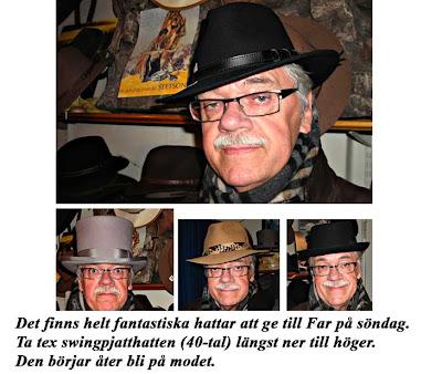 Bertil Mellblom är butikens fjärde ägare och kan titulera sig så fint som  hattmakare. Jag provar och min son Johan(vinjettbilden) tar bilder. Vi  frossar i ... 084fd2db253f9