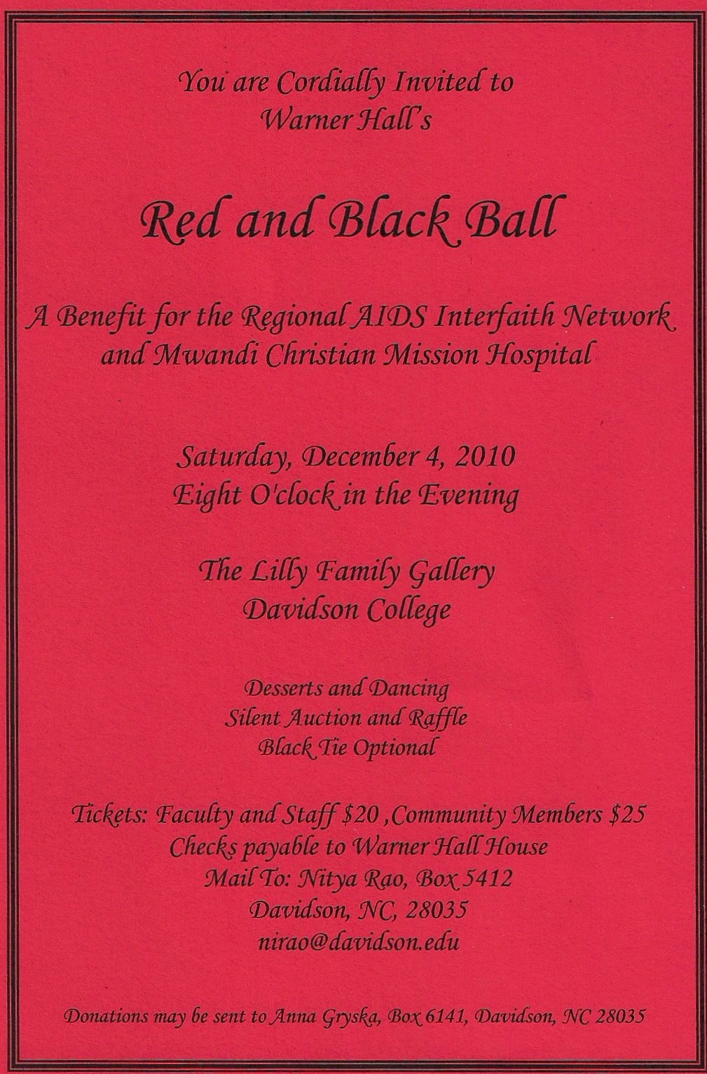 Davidson College's Annual Red and Black Ball