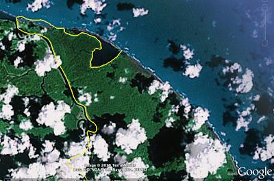La frontière entre le Costa-Rica et le Nicaragua mise à jour sur Google Earth.