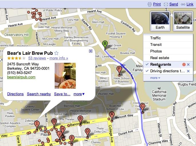 Afficher plusieurs recherches en même temps dans Google Maps.