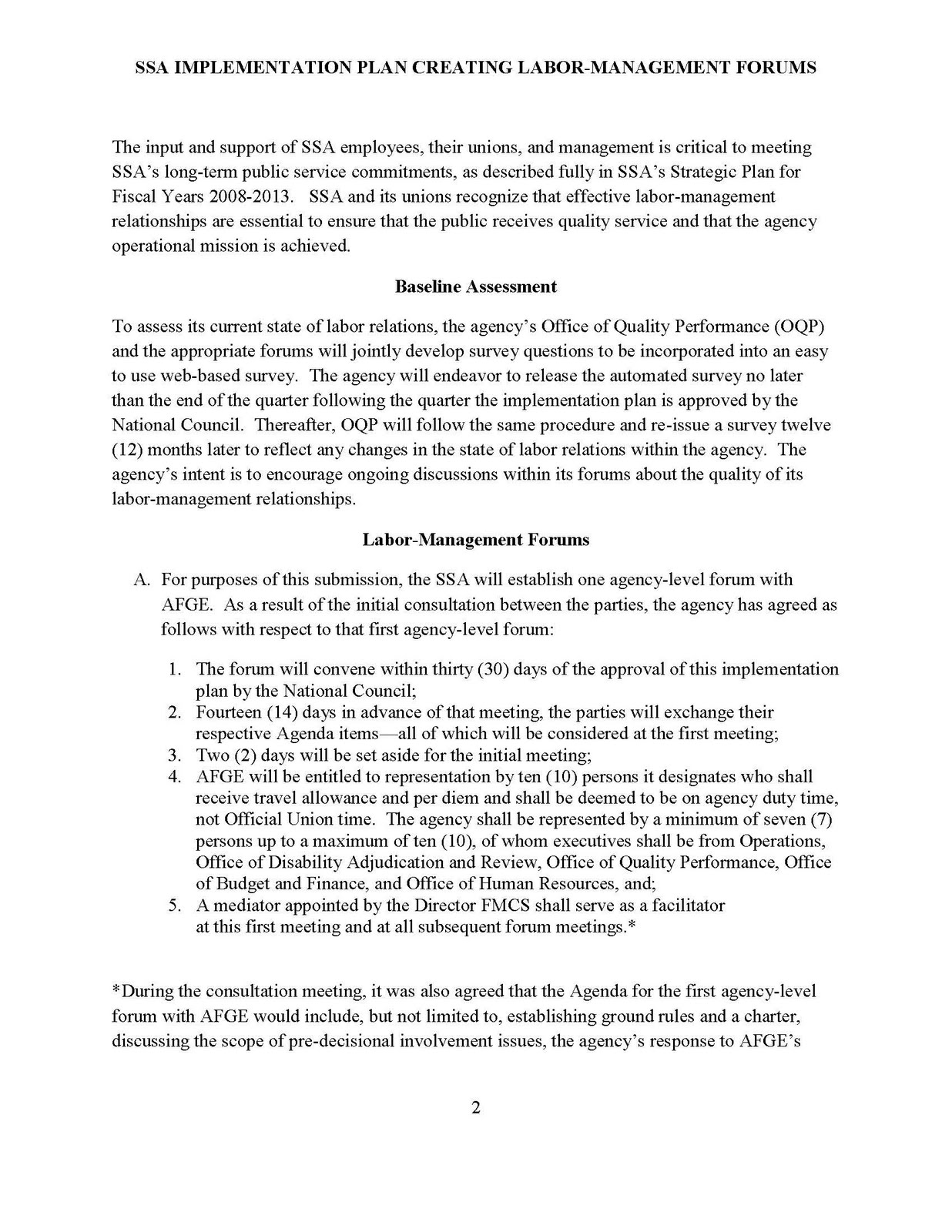 Social Security News: Labor-Management Councils
