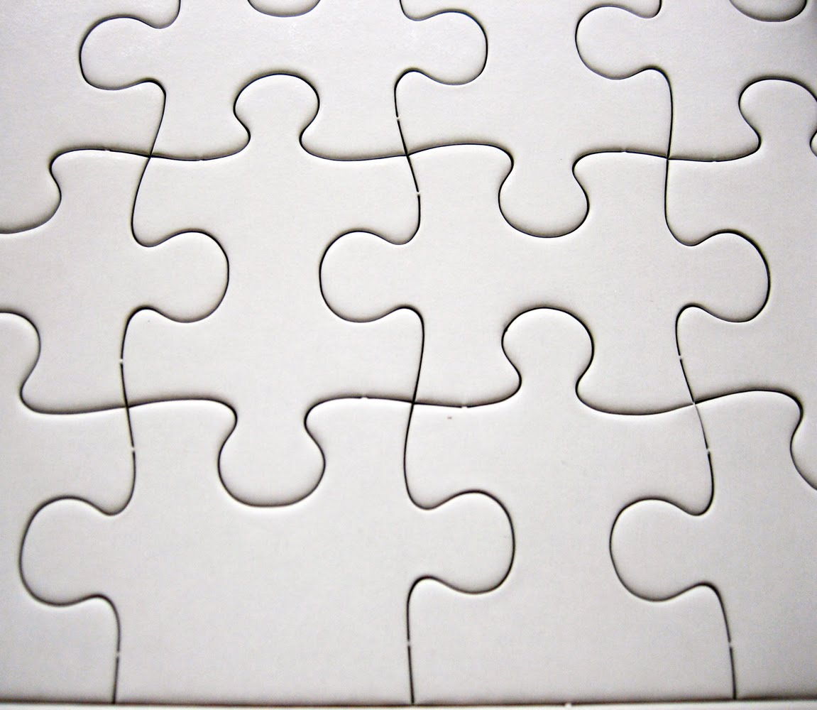 blank puzzle. you can draw or paint directly on the pre-cut puzzle ...