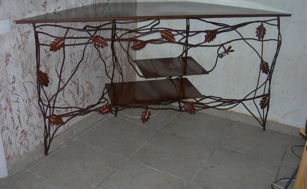art du fer meuble t l en fer forg. Black Bedroom Furniture Sets. Home Design Ideas