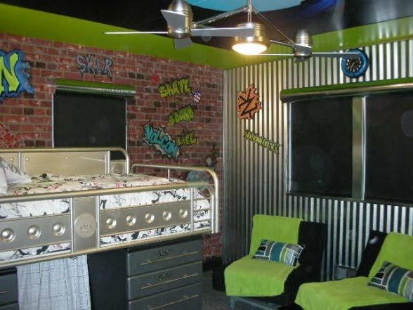 dana's design studio: Super Cool Skateboard Room -- Ashley ...
