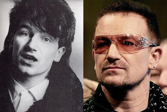 Antes e depois: Bono Vox