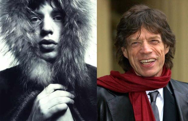 Antes e depois: Mick Jagger