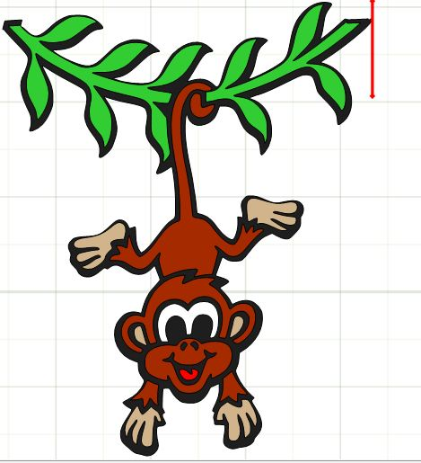 clipart monkey hanging from tree - photo #40