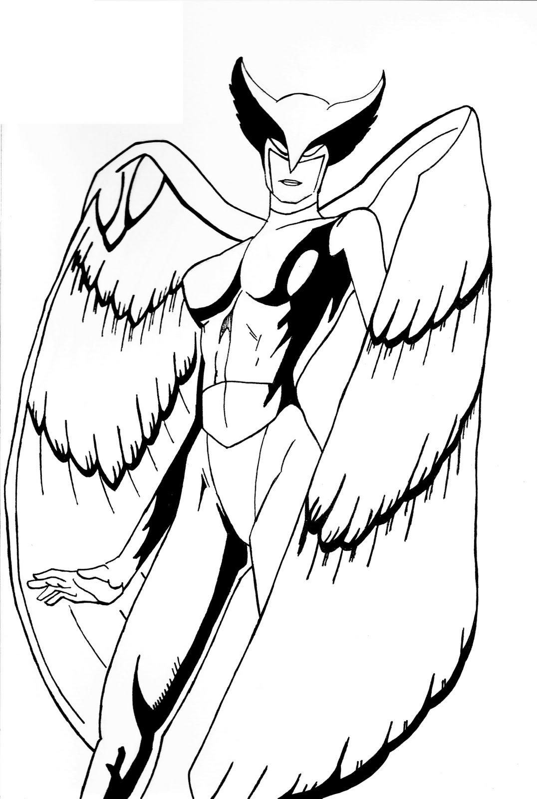 coloring pages of hawkgirl - photo#7