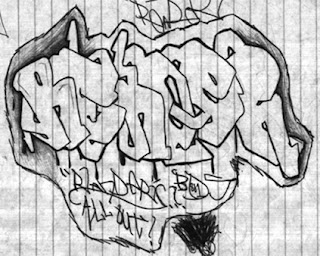 GRAFFITI ART STREET sketsa gambar graffiti